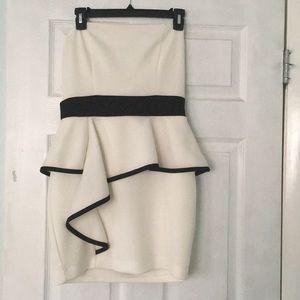 Strapless mini homecoming dress